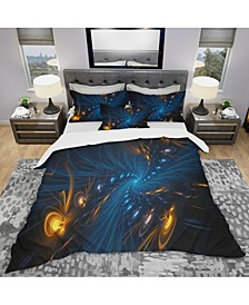 Designart 'Illumination' Modern and Contemporary Duvet Cover Set - Queen