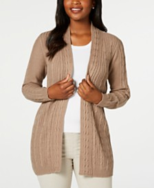 Karen Scott Cable-Knit Cardigan, Created for Macy's