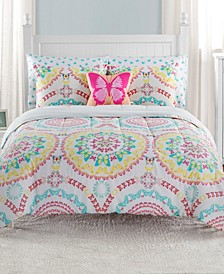 Beautifly Twin 5 Piece Comforter Set