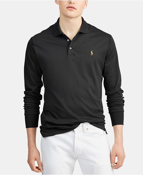 genuine shop for favorable price Men's Big & Tall Classic Fit Soft Touch Long-Sleeve Polo Shirt