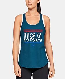 Women's Graphic Cross-Back Tank Top