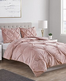 Carmen Velvet 3-Pc. Full/Queen Comforter Set