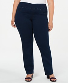 Charter Club Plus Size Tummy-Control Jeans, Created for Macy's