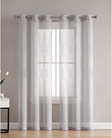Danby Knit Semi Sheer 38X63 Panel Pair