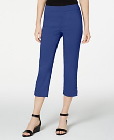 JM Collection Petite Embellished Capri Pants, Created for Macys