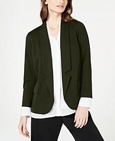 Notch-Collar Open-Front Jacket, Created for Macy's
