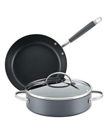 Anolon Advanced Home Hard-Anodized Nonstick 3-Pc. Cookware Set