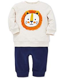 Baby Boys 2-Pc. Lion Sweatshirt & Jogger Pants Set