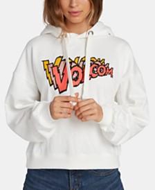Volcom Juniors' Logo-Print Hoodie