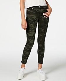 Ellie Camouflage-Print Ankle Skinny Jeans