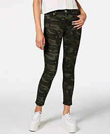 STS Blue Ellie Camouflage-Print Ankle Skinny Jeans