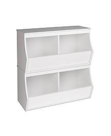 Prepac Monterey Stacked 4-Bin Storage Cubbie