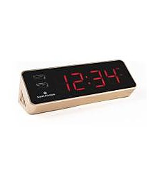 Marathon USB Clock Charger with 2 Front Charging Ports