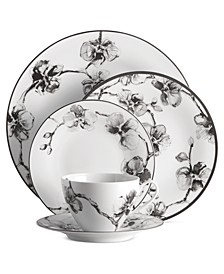 Dinnerware, Black Orchid Collection