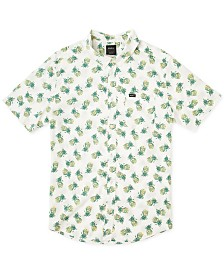RVCA Men's All Over Pineapple Print Short Sleeve Woven