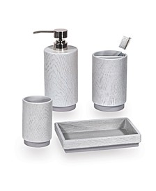 Grey Wood Bath Accessories Collection