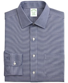 Brooks Brothers Men's Milano Slim-Fit Non-Iron Houndstooth Supima Cotton Dress Shirt