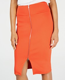 Thalia Sodi Zipper Scuba Skirt, Created for Macy's