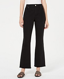 Marley High-Waist Frayed-Hem Cropped Pants, Created for Macy's