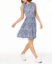 0d16df007ba091 MICHAEL Michael Kors Petite Printed Dress, In Regular and Petite