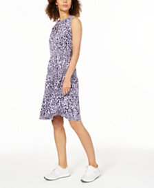 Michael Michael Kors Petite Printed Dress, In Regular and Petite