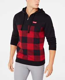 Levi's® Men's Quarter-Zip Plaid Hoodie