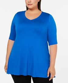 Alfani Plus Size V-Neck Swing Tunic, Created for Macy's