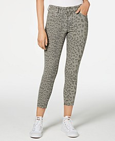 Ellie Animal-Print Ankle Skinny Jeans
