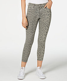 STS Blue Ellie Animal-Print Ankle Skinny Jeans