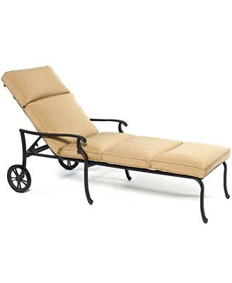 CLOSEOUT Kingsley Cast Aluminum Outdoor Chaise Lounge Created