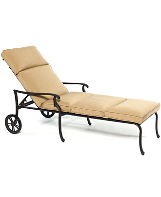 Kingsley cast aluminum outdoor chaise lounge furniture for Cast aluminum chaise lounge