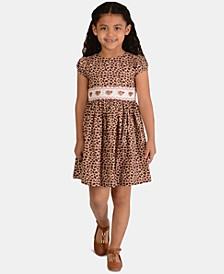 Little Girls Leopard-Print Poplin Dress