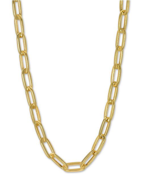 """Macy's Paperclip Link Chain 20"""" Chain Necklace in 14k Gold"""