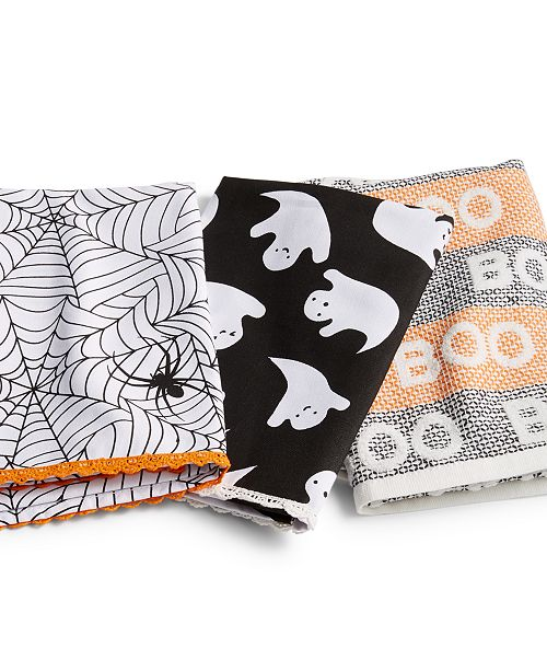 Halloween Kitchen Towels Set Of 3 Created For Macy S