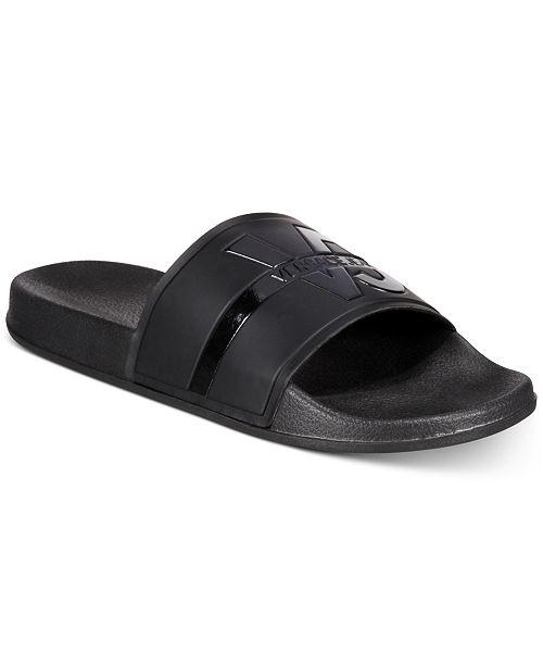 Versace Coated-Rubber-Effect VJ Sandals