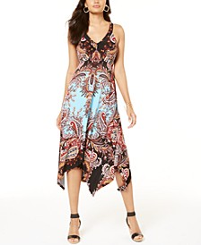 INC Petite Paisley Handkerchief-Hem Dress, Created for Macy's