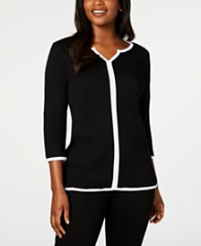 Karen Scott Cotton Tipped Tunic, Created for Macy's