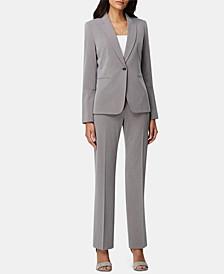 Single-Button Pants Suit