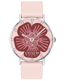 Women's Perry Pink Leather Strap Tea Rose Dial Watch 36mm, Created for Macy's