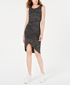 Bar III Tulip-Hem Ruched-Side Dress, Created for Macy's