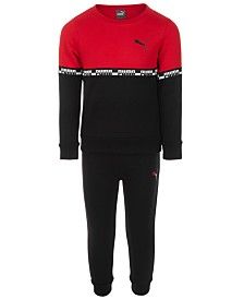 Puma Toddler Boys 2-Pc. Colorblocked Sweatshirt & Pants Set