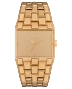 Nixon Women's Ticket Rose Gold-Tone Stainless Steel Bracelet Watch 34Mm