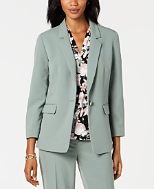 Nine West Notched-Lapel Blazer