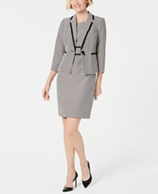 Kasper Petite Geometric Jacquard Dress & Jacket
