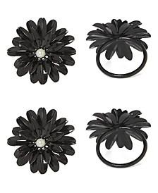 Black Pearl Flower Napkin Ring