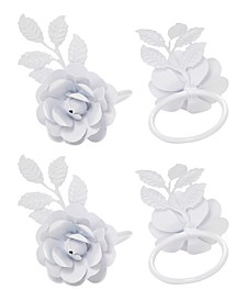 Rose Napkin Ring Set of 4
