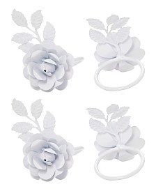 Vibhsa Rose Napkin Ring Set of 4