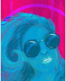 "Dreamer Abstract Woman Portrait Metal Wall Art Print - 20"" x 24"""
