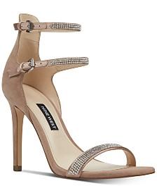 Nine West Women's Iliana Strappy Evening Sandals