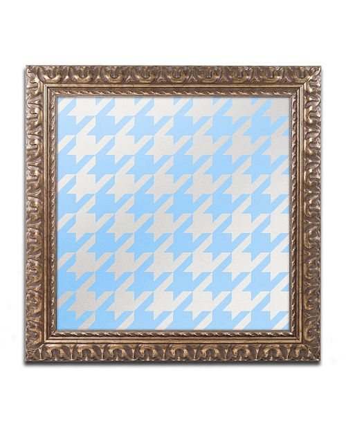"Trademark Global Color Bakery 'Xmas Houndstooth 3' Ornate Framed Art - 16"" x 16"""